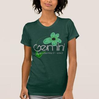 Gemini May Born Tee-shirt With Emerald Flower T-Shirt