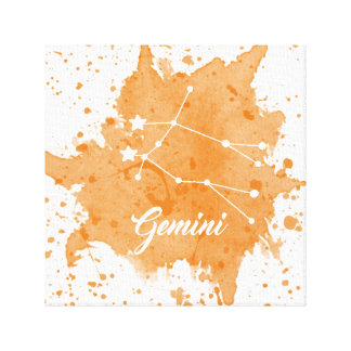 Gemini Orange Wall Art