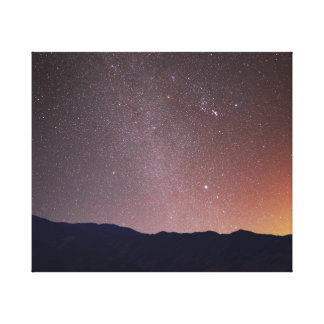 Gemini, Orion, Sirius and the winter Milky Way Canvas Print