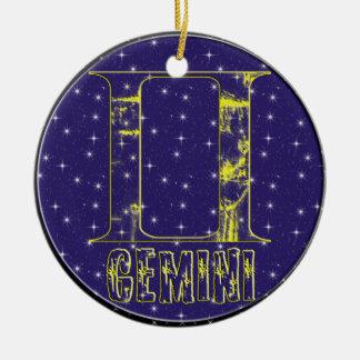 GEMINI ORNAMENT+gifts Ceramic Ornament