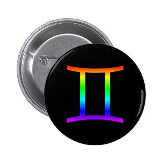 Gemini Rainbow Button