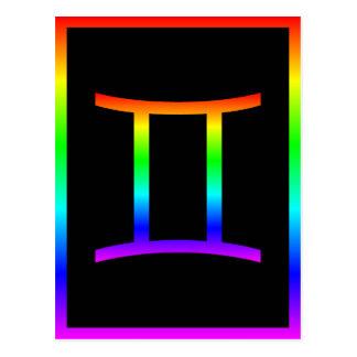 Gemini Rainbow Postcard