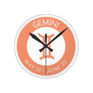 Gemini Round Clock