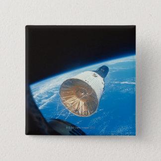 Gemini Space Capsule 2 Inch Square Button