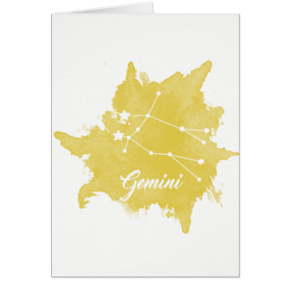 Gemini Star Sign Birthday Card