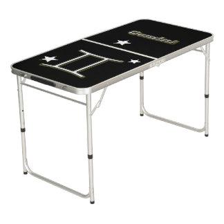 Gemini symbol beer pong table