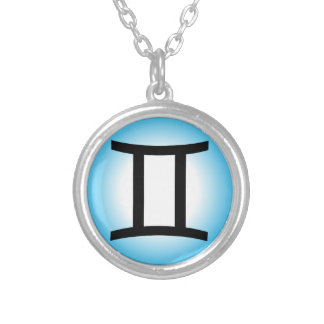 GEMINI SYMBOL SILVER PLATED NECKLACE