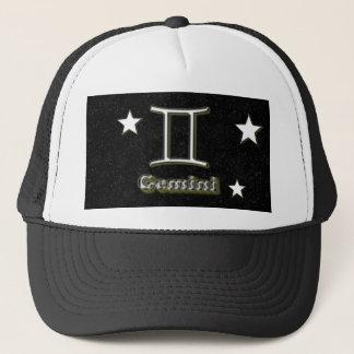 Gemini symbol trucker hat