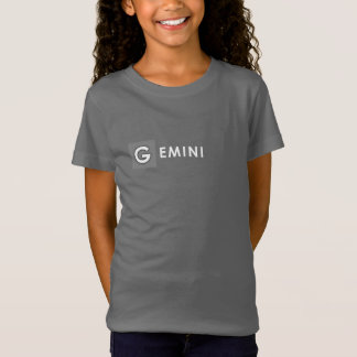 GEMINI T SHIRT - Girls' Zodiac Color Grey Tee