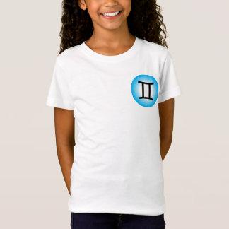 GEMINI T SHIRT - Girls' Zodiac Symbol White Tee