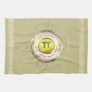 Gemini - The Twins Astrological Sign Kitchen Towel