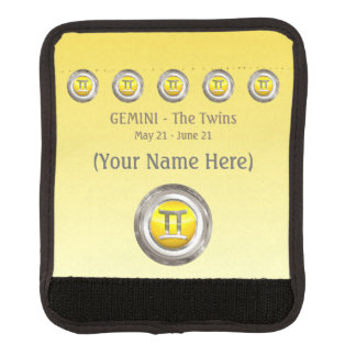 Gemini - The Twins Astrological Sign Luggage Handle Wrap