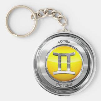 Gemini - The Twins Zodiac Sign Keychain