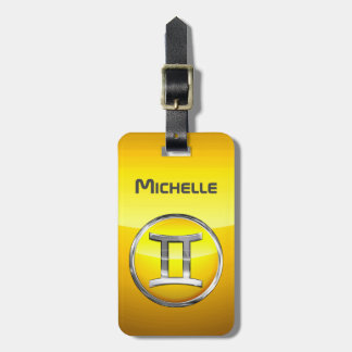 Gemini - The Twins Zodiac Sign Luggage Tag