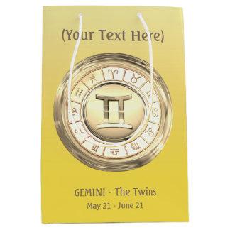 Gemini - The Twins Zodiac Sign Medium Gift Bag