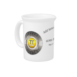 Gemini - The Twins Zodiac Sign Pitcher