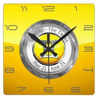 Gemini - The Twins Zodiac Sign Wall Clock