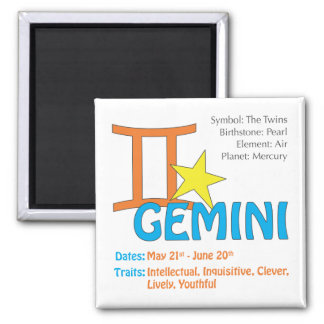 Gemini Traits Magnet