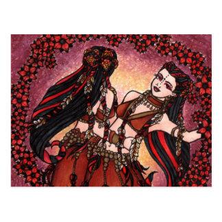 Gemini Tribal Belly Dancers Postcard