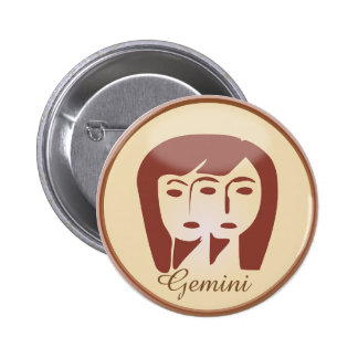 Gemini Twins Horoscope Symbol Astrology Button