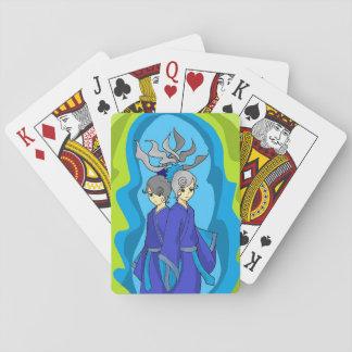 Gemini Twins Japanese Art Playing Cards