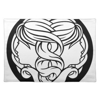 Gemini Twins Zodiac Astrology Sign Placemat