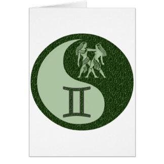 Gemini Yin Yang Card