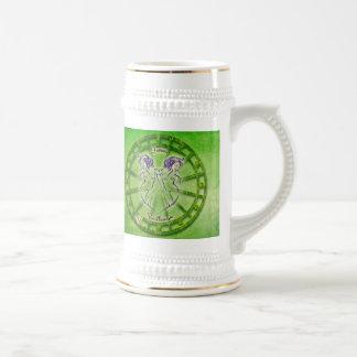 Gemini Zodiac Astrology design Beer Stein