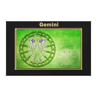 Gemini Zodiac Astrology design Canvas Print
