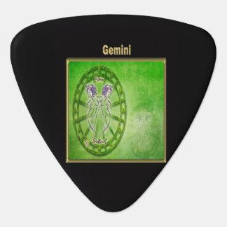 Gemini Zodiac Astrology design Guitar Pick