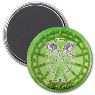 Gemini Zodiac Astrology design Magnet
