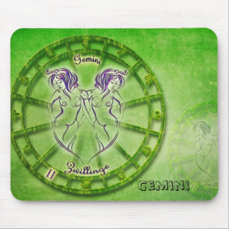 Gemini Zodiac Astrology design Mouse Pad