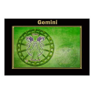 Gemini Zodiac Astrology design Poster