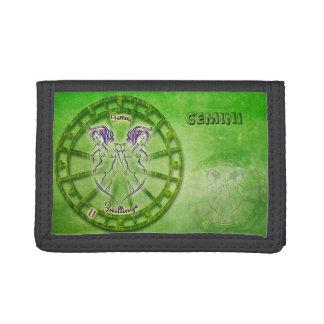 Gemini Zodiac Astrology design Trifold Wallets