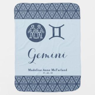 Gemini Zodiac Baby Blanket
