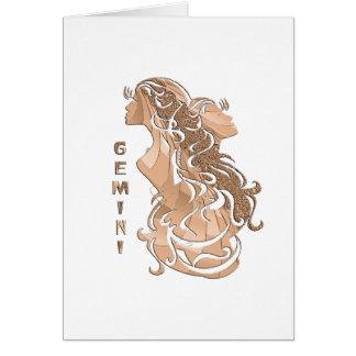 Gemini Zodiac Card
