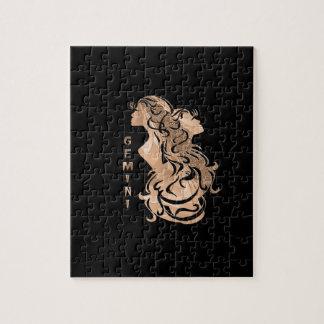 Gemini Zodiac Design Jigsaw Puzzle