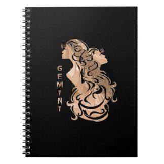 Gemini Zodiac Design Notebook