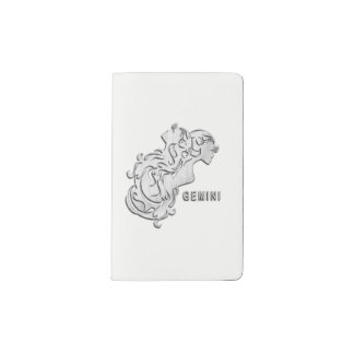 Gemini Zodiac Design Pocket Moleskine Notebook