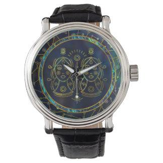 Gemini Zodiac Gold Abalone on Constellation Watch