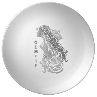 Gemini Zodiac Plate
