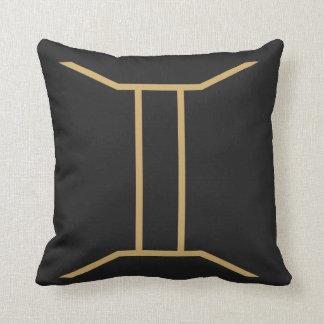 Gemini Zodiac Sign Basic Throw Pillow