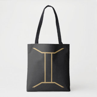 Gemini Zodiac Sign Basic Tote Bag