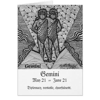 Gemini  (Zodiac sign) Card
