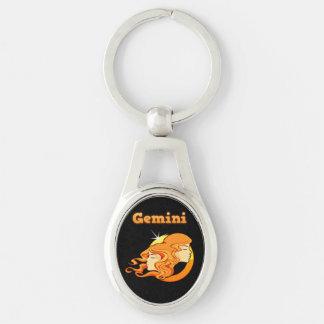 Gemini zodiac sign keychain