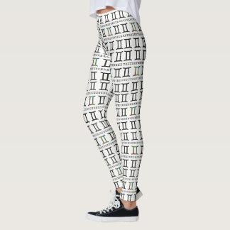Gemini Zodiac Sign Pattern Leggings