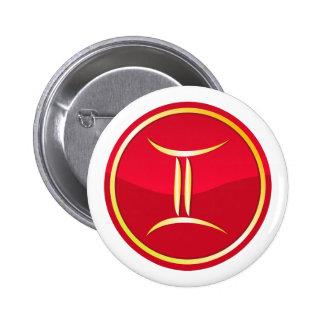 Gemini - Zodiac Signs 2 Inch Round Button