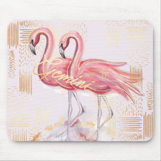 Gemini Zodiac Watercolour Artistry mousepad