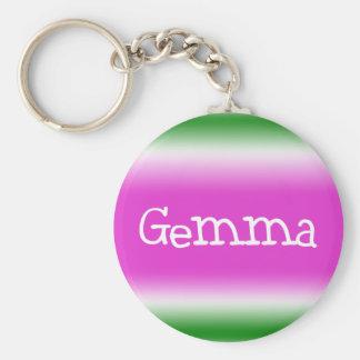 Gemma Basic Round Button Keychain