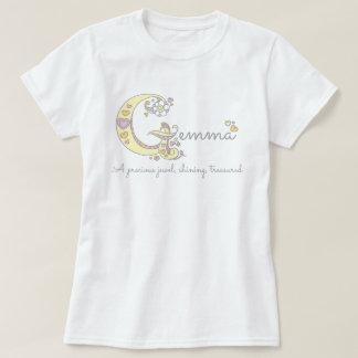 Gemma girls name decorative custom meaning T-Shirt